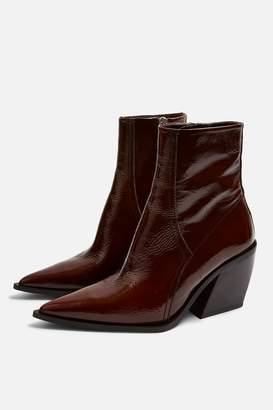 Topshop Womens Honour Western Boots - Tan