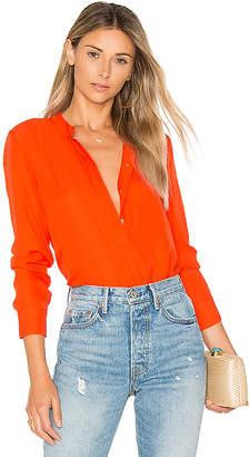 amour vert Mina Blouse in Orange $188 thestylecure.com