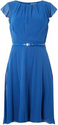 Dorothy Perkins Womens **Billie & Blossom Tall Blue Belted Flare Dress