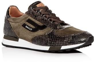 Bally Men's Gavino Suede Low-Top Sneakers