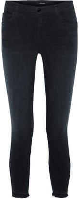 J Brand 835 Distressed Cropped Mid-rise Skinny Jeans - Black