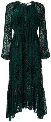 A.L.C. leopard print devoré midi dress