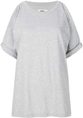 MM6 MAISON MARGIELA cold shoulder T-shirt