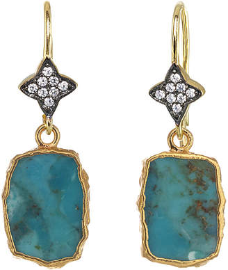 Rachel Reinhardt 14K Over Silver Turquoise Drop Earrings