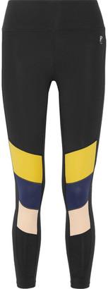 P.E Nation - The Iron Tyson Color-block Stretch Leggings - x small $120 thestylecure.com