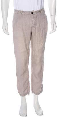 Stone Island Linen Cropped Pants