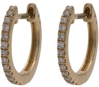 Jacquie Aiche mini diamond paved hoop earrings