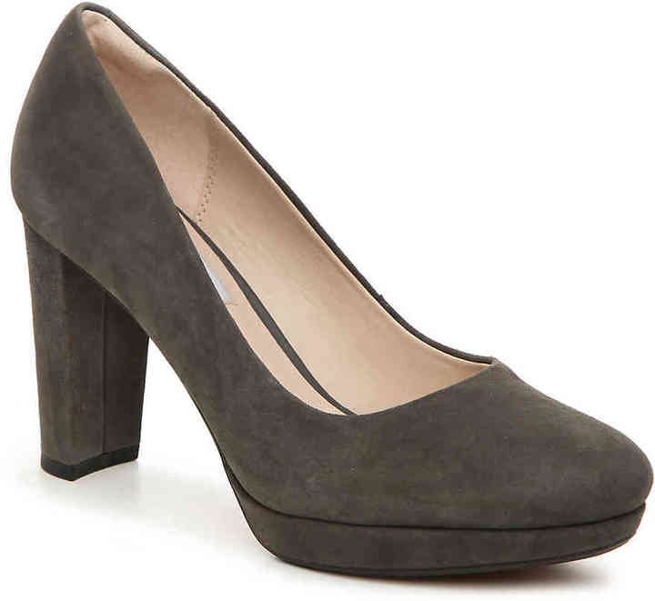 Clarks Women's Kendra Sienna Platform Pump -Bronze Metallic Leather