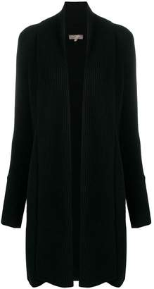 N.Peal vertical placket cardi-coat