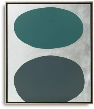 """3.1 Phillip Lim Green Floating Spheres with Silver Art, 26"""" x"""
