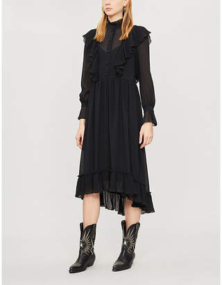 See by Chloe High-neck ruffled crepe dress