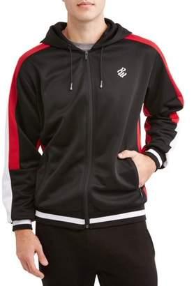 Rocawear Men's Track Jacket Interlock, Full Zip Hoodie