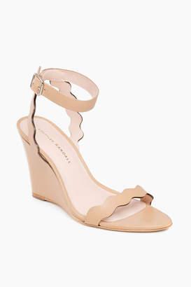 Loeffler Randall Wheat Piper Scallop Wedge Sandals