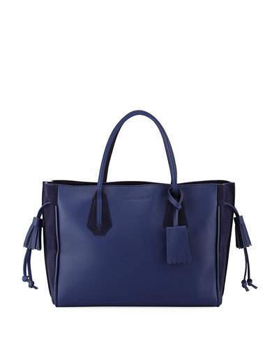 Longchamp Penelope Medium Leather Tote Bag