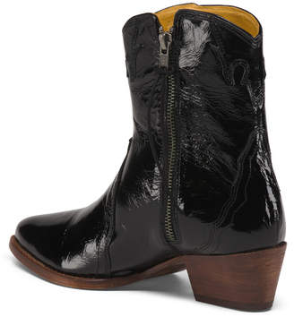 Free People New Frontier Patent Leather Western Boots