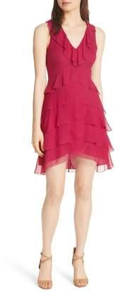 Alice + Olivia Felicita Ruffle Silk Dress