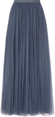 Needle & Thread - Tulle Maxi Skirt - Storm blue $240 thestylecure.com