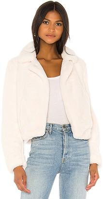 Blank NYC BLANKNYC Cream Faux Fur Jacket