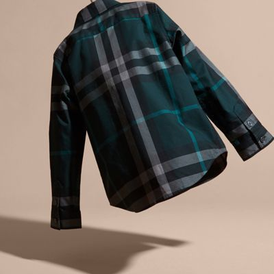 Burberry Check Cotton Button-down Shirt 8