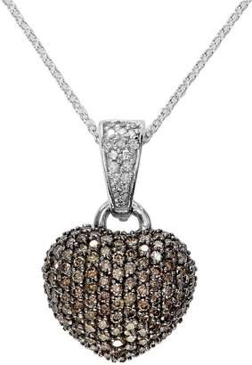 Effy Women's Espresso Diamond, Diamond & 14K White Gold Pendant Necklace