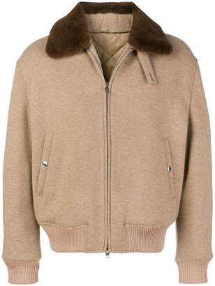 Alexander McQueen fur collar jacket