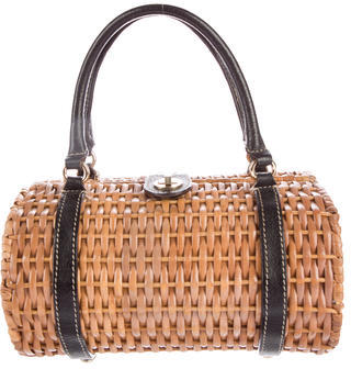 Kate SpadeKate Spade New York Wicker Leather-Accented Bag