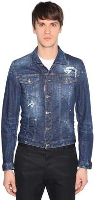 DSQUARED2 Tidy Distressed Cotton Denim Jacket