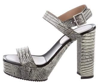Calvin Klein Collection Embossed Platform Sandals
