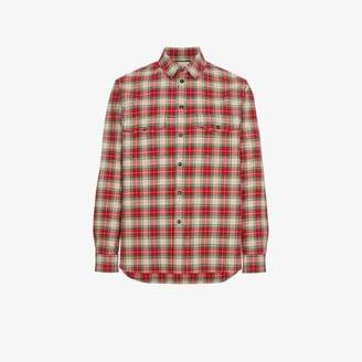 Gucci embroidered vintage checked shirt