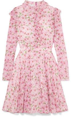 Giambattista Valli Ruffled Floral-print Silk-georgette Mini Dress