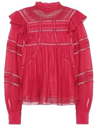 Etoile Isabel Marant Isabel Marant, Étoile Viviana cotton-blend blouse