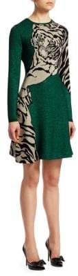 Valentino Tiger Glitter Knit Dress