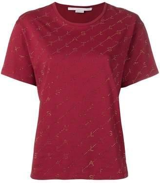 Stella McCartney embellished monogram T-shirt
