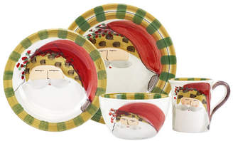 Vietri Old St. Nick Animal Hat 4 Piece Place Setting