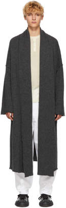 Isabel Benenato Grey Wool Coat