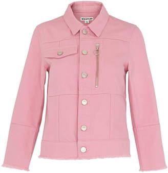 Whistles Pink Ring Puller Denim Jacket