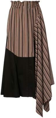 Tome asymmetric flared skirt
