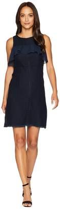 Ellen Tracy Flounce Yoke Fit and Flare Dress Women's Dress