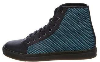 Viktor & Rolf High-Top Cap-Toe Sneakers w/ Tags