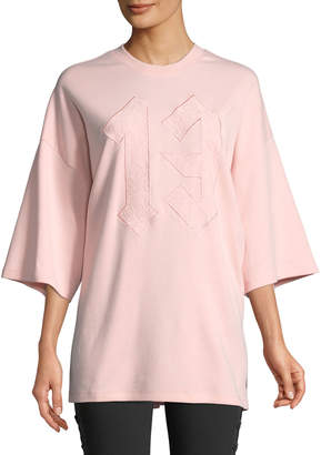 FENTY PUMA by Rihanna Embroidered 13 Oversized Crewneck Tee, Pink