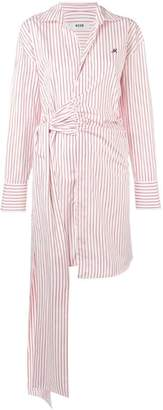 MSGM striped tie-side shirt dress
