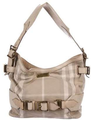 Burberry Canvas Check Hobo