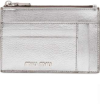 Miu Miu Madras credit card holder