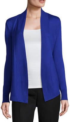 Liz Claiborne Long Sleeve Open Front Cardigan