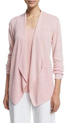Eileen Fisher Organic Linen Angled Cardigan, Plus Size