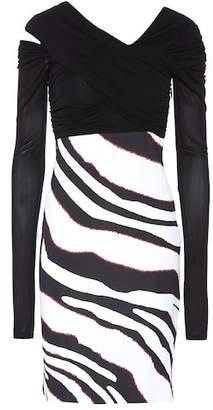 Roberto Cavalli Zebra-striped dress
