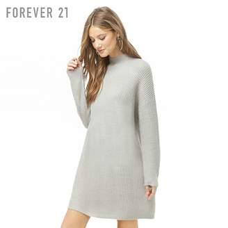 Forever 21 (フォーエバー 21) - Forever 21 ハイネックチャンキーニットワンピース