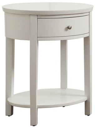 Weston Home Lucas Living Room Oval Accent End Table With Lower Shelf and Single Drawer, Multiple Table Finishes