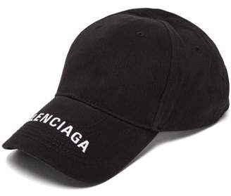 Balenciaga Embroidered Logo Baseball Cap - Mens - Black