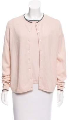 Magaschoni Button-Up Silk Cardigan Set